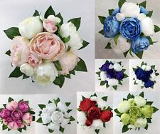 Artificial Flower Peony Flowers Bridesmaid/Wedding Bouquet cintahomedeco