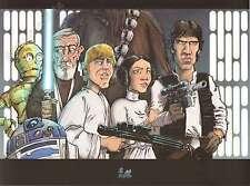 Affiche Le Pon Yan Star Wars 30x40 cm