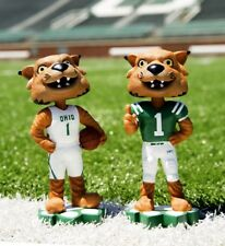 OHIO UNIVERSITY BOBCATS Basketball/Football Mascot EXCLUSIVE Bobblehead Set NIB!