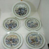 Lot/5 D'Arceau Limoges French Collector Plates Limited Edition Plates