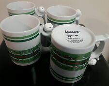 "4 Spinners Talus Golf ""Spinning Ball on Handle"" Coffee Tea Cup Mug Course NICE !"