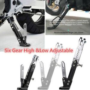 Steadily Adjustable Height Motorcycle Alloy Side Kickstand Bearing Up to 500 kg