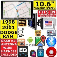 "98-01 DODGE RAM 10.6"" NAVIGATION CD/DVD USB BLUETOOTH USB CAR RADIO STEREO PKG"