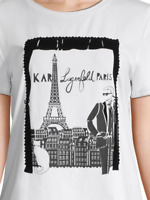 Karl Lagerfeld Paris Karl Through Window Tee Brand New