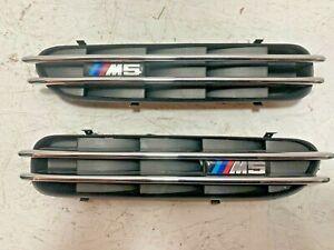 BMW E60 M5 OEM M3 2006-2010 Left Right Pair Fender Vents Factory Chrome Grilles