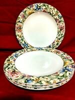 Royal Doulton Jacobean Set Of 4 Dinner Plates 10 1/2""