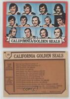 1973-74 O-Pee-Chee #95.1 California Golden Seals Team (Light Back) Hockey Card