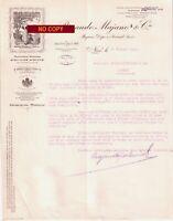 Beau Document du 20/01/1927 RINAUDO MAJANO Huile d'olive vierge - NICE 06