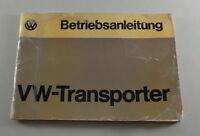 Betriebsanleitung VW Bus / Transporter T2 + T2 b Stand 1974