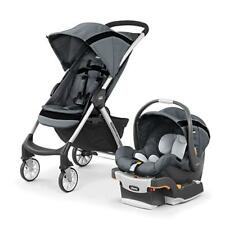 Chicco Mini Bravo Sport Travel System KeyFit Infant Car Seat w/ Stoller - Carbon