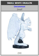 Dungeons and Dragons Dragoneye Small White Dragon - 59 D&D Miniature with Card