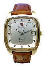 OMEGA Armbanduhren mit Armband aus echtem Leder für Herren