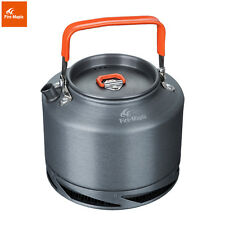 Outdoor Camping Pinic Heat Exchange Kettle Coffee Tea Pot With Handle 1.5L