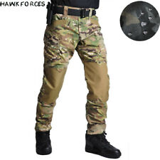 Waterproof Men's Tactical Cargo Pants Military Combat Casual Trousers Camouflage