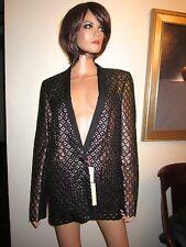 NWT Stella McCartney Size 8 100% Silk Peacock Jacket Blazer IT 44 Orig. $3620