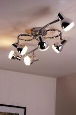 6 spots sur rail LED Plafonnier Lustre Lampe à suspension Lampe de séjour 75830