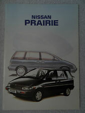 Nissan Prairie brochure 1989 - LX, SLX, 2WD, 4WD, Manual, Automatic, 7-seater