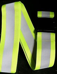 Reflective Yellow /Silver Strap Belt High Visibility Sports,Walking, Biking,Pet