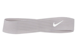 Brand New Nike Novelty Ribbed Swoosh Logo Headband Gray Unisex Adults