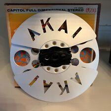 Vintage Akai Metal 7 Inch Take up Reel Die Cut
