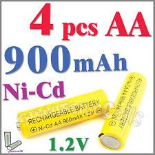 4 pcs AA 2A 900mAh 1.2V Ni-Cd Ni-Cad Solar Light Rechargeable Battery Yellow