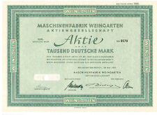 Maschinenfabrik Weingarten  1000DM  1951