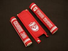 Old school BMX HAWK 3 Pièce Cadre Rouge tampon set genuine new old stock Made in années 80