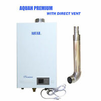 AQUAH® DIRECT VENT LIQUID PROPANE GAS TANKLESS WATER HEATER 3.7 GPM
