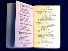 Carnet de Chants de Scouts. Vers 1940. 31 Chants