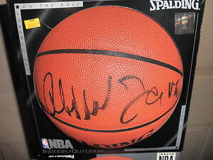 KAREEM ABDUL JABBAR SIGNED NBA BASKETBALL PROOF COA! IN PERSON LAKERS