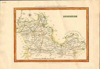 berkshire county map 1830s or 40s . engraved by j & c walker