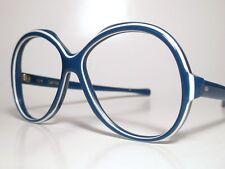 "NIP 60-70s Sun/ Eyeglasses Frame American Optical ""SUMMER SCENE"" Sapphire On Ice"