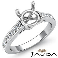 Solitaire Style Diamond Engagement Ring 14k White Gold Round Semi Mount 0.3Ct