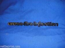 1982 C3 CORVETTE CROSSFIRE INJECTION SIDE EMBLEM NEW