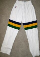 NBA CHAMPION UTAH JAZZ GAME USED PANTS 36 JERSEY UNIFORM 1990 WHITE 41 IN BLANK