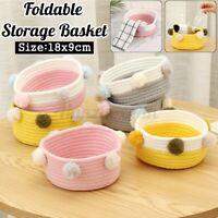 Foldable Laundry Basket Storage Toy Hamper Clothes Basket Bin Cotton