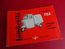 Original 1950/60 NOS Lambro Lambretta FLI 175 Series 1 Parts Catalogue