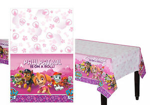 Pink PAW Patrol Girl Plastic Table Cover Birthday Decorations Party Favor Supply