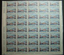 1961  ITALIA 15 lire  Centenario Unità D'Italia  blocco 40 valori  MNH**