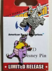 Disney Pins Hidden Mickey 2019 Figment Yellow Turtleneck #135684 & Chaser Traded