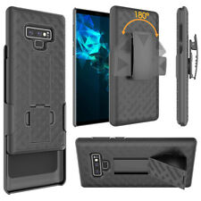For Samsung Galaxy Note 9 Black Holster Swivel Belt Clip Hard Slim Case Cover
