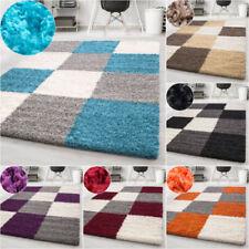Karierte Wohnraum-Teppiche in aktuellem Design im Hochflor -/Shaggy -/Flokati-Stil