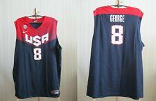 5+/5 USA team #8 Paul George Sz XXL Nike Basketball America jersey shirt 2XL