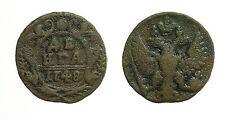 "pcc1659_11) RUSSIA -- Denga 1748  "" Eagle "" Elizabeth II"