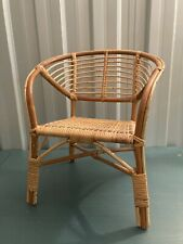 Vintage Childs/Doll Wicker Bamboo Cane Chair Boho Tiki