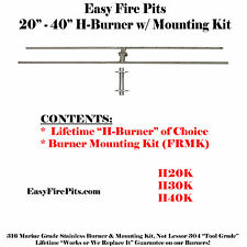 H30K: 30″ H-BURNER KIT – (LOW PROFILE) BURNER & MOUNTING KIT ONLY