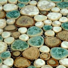 11PCS Porcelain Pebble Mosaic Bath Backsplash Shower Wall and Floor Tile PPT009