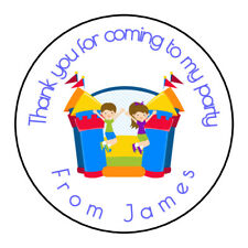 Bouncy Castle Jump Personalised Thank You Sticker Party Sweet Cone Birthday