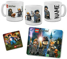 Personalised Lego Harry Potter Mug with Coaster & Placemat Options