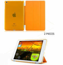 2 Pcs Orange Smart Cover Sleep Wake Function + Back Support For iPad Mini/Retina